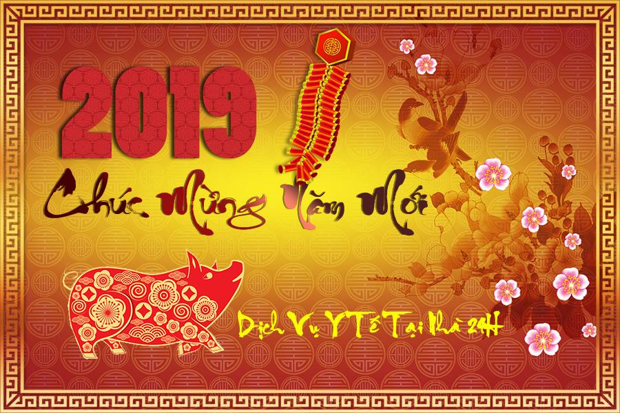 Chúc mừng năm mới 2019 - Kỷ Hợi của Dịch Vụ Y Tế Tại Nhà TPHCM 24H